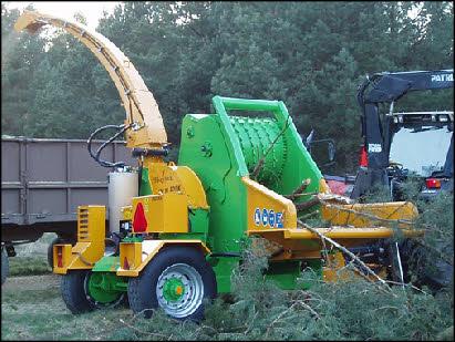 Flishuggar traktormonterade